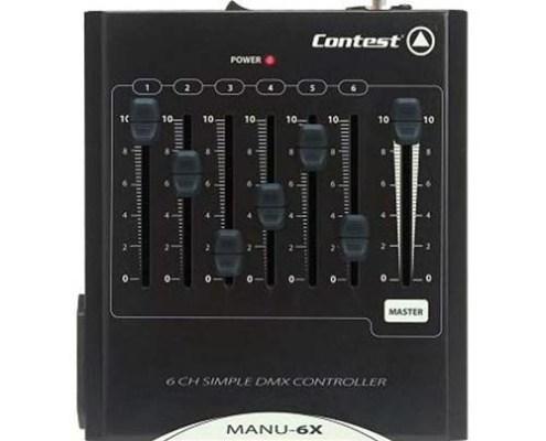 Contrôleur DMX 6 canaux + Master Contest - Nantes Sono - Location de matériel de sonorisation de lumière et de vidéo à Nantes (44)