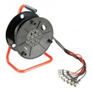 Enrouleur Multipaire Audio 6-2 en 15 Mètres - Nantes Sono - Location de matériel de sonorisation de lumière et de vidéo à Nantes (44)
