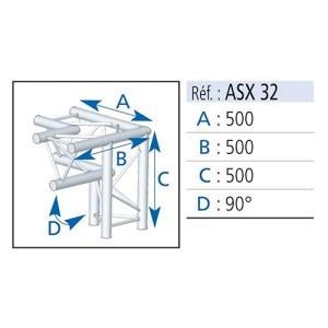 Angle carré alu 3D ASD - Nantes Sono - Location de matériel de sonorisation de lumière et de vidéo à Nantes (44)