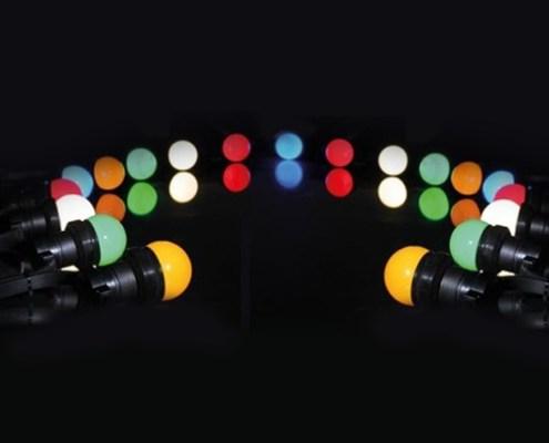 Guirlande de fête à Led 11 mètres 20 lampes Led Multicolores - Nantes Sono - Location de matériel de sonorisation de lumière et de vidéo à Nantes (44)