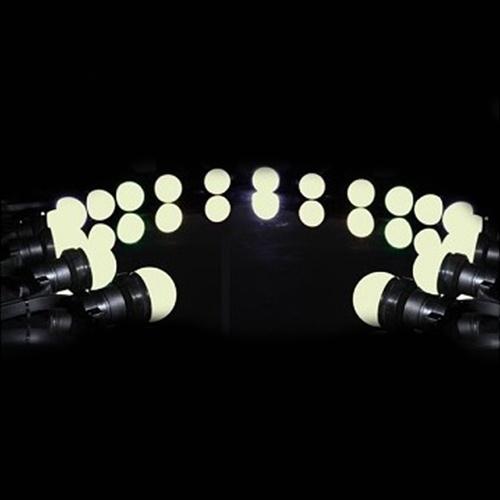Guirlande de fête à Led 11 mètres 20 lampes Led blanc chaud - Nantes Sono - Location de matériel de sonorisation de lumière et de vidéo à Nantes (44)