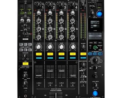 Table de mixage Pioneer noire 4 voies audio 2 voies Mic Nexus - Nantes Sono - Location de matériel de sonorisation de lumière et de vidéo à Nantes (44)