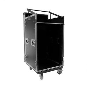 Flight Case PLUGGER CASE Mixer-Rack 16U Roller - Nantes Sono - Location et vente de matériel de sonorisation de lumière et de vidéo à Nantes (44)