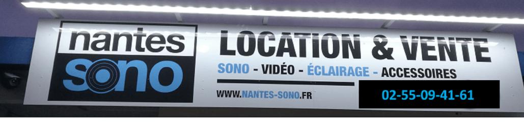 Enseigne de nuit - Nantes Sono - Location et Vente de matériel de sono de lumière et de vidéo à Nantes (44)