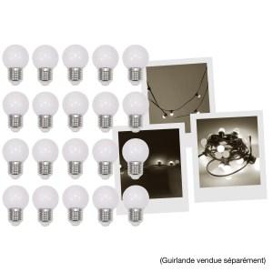 Pack de 20 Ampoules Blanc Chaud Guirlande MAC MAH LAMP-20WW - Sono 85 - Sono Nantes - Location et Vente de matériel de sono de lumière et de vidéo