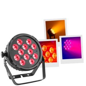 Projecteur à Leds MAC MAH FLAT PAR 12X12W 6IN1 - Sono 85 - Sono Nantes - Location et Vente de matériel de sono de lumière et de vidéo