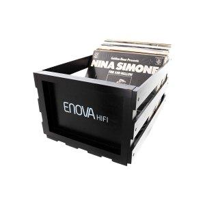 ENOVA HIFI Caisse Stockage 120 LP - Finition Noire - Sono 85 - Sono Nantes - Location et Vente de matériel de sono de lumière et de vidéo