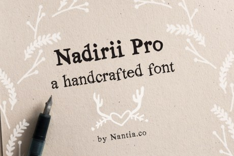Nadirii Pro Font | Handcrafted
