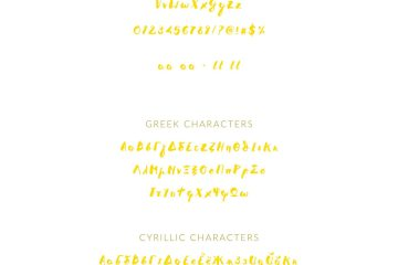 Melidia Greek Cyrillic handbrushed font