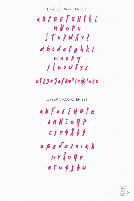 Muri Handcrafted Greek Font