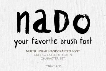 nado Brush Font