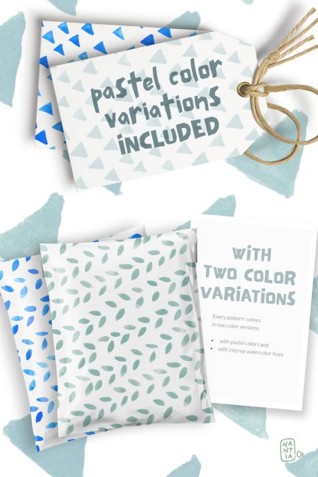 Real Watercolor Seamless Patterns