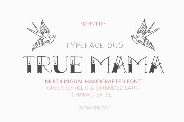 True Mama Cyrillic Greek Typeface
