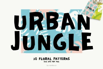 Seamless Patterns 20 x Urban Jungle Vol 4