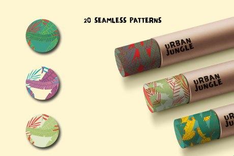 Seamless Patterns 20 x Urban Jungle Vol 5