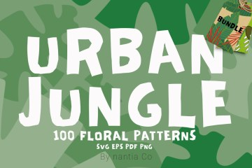 100 Urban Jungle Pattern Bundle