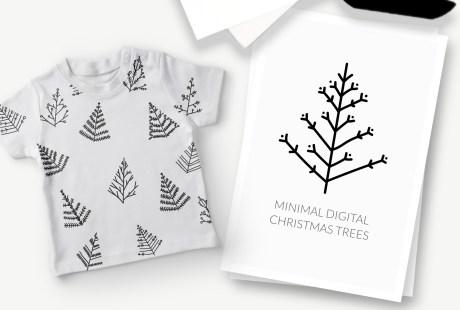 SVG Vector Christmas Trees