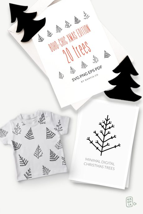 SVG Vector Christmas Trees