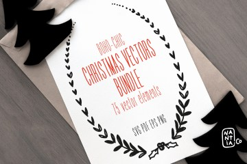 Boho-Chic Christmas Vectors Bundle