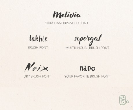 Brush Font Pack