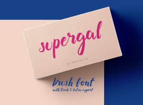 Supergal brush font