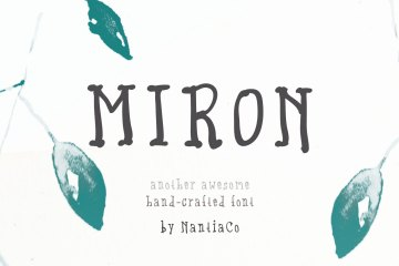 Miron Font Another Awesome Hand-Crafted Font
