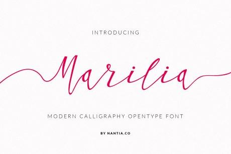 Script Font Calligraphy Marilia Pro