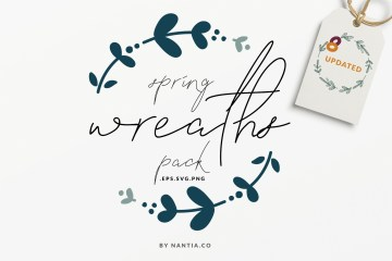 20 Spring Wreaths Vector Pack