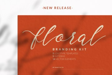 Floral Branding Kit - Logo Template