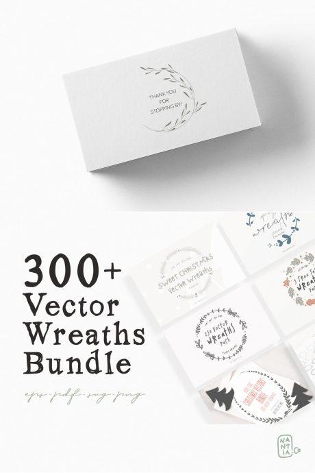 330 Vector Wreaths Mega Bundle