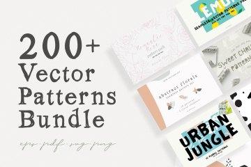 200 + Vector Patterns Bundle