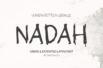 Nadah Grunge Handwritten Greek Font