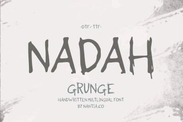 Nadah Grunge Handwritten Greek Font