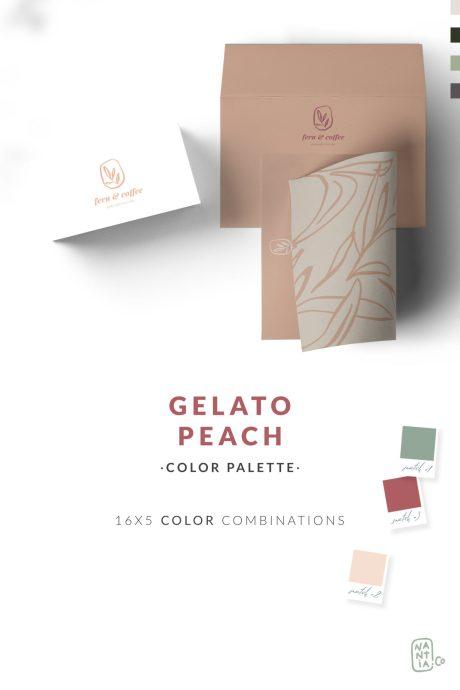 Peach Gelato Color Palette