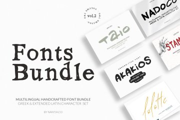 Greek Fonts Bundle Vol.2 By Nantia.co. Buy Nantia.co font bundles.