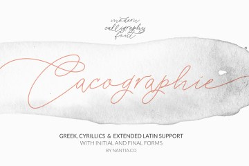 Cacographie Greek Cyrillic Calligraphy Font