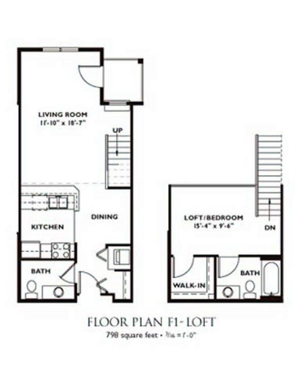 1 bedroom floor plans for Nantucket floor plan
