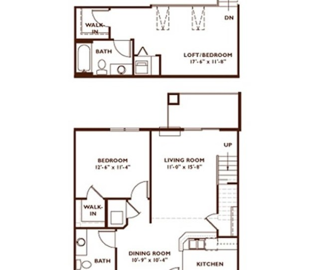 Bedroom Floor Plan Plan G Loft