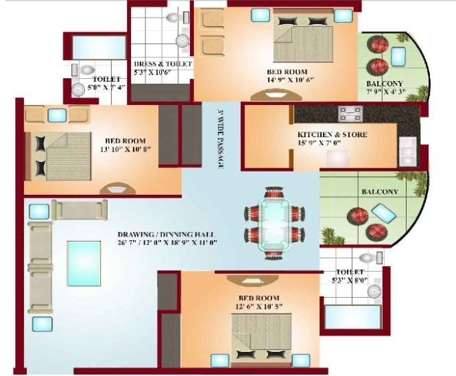 Interior Design For 2 Bedroom Apartment In India Image