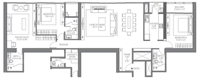 3 BHK Multistorey Apartment / Flat for sale in Tata 88