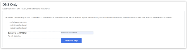 Hosting domian DNS only