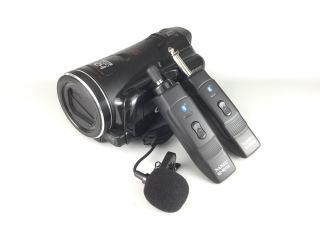 コードレスピンマイクのビデオカメラへの接続方法