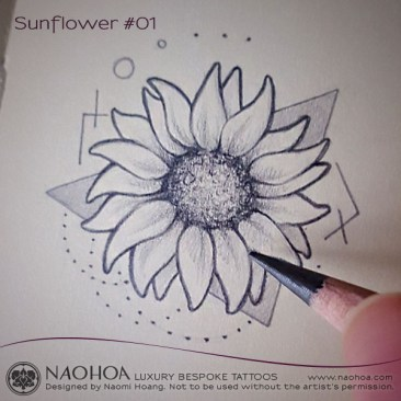 Georganic sunflower design by Naomi Hoang.