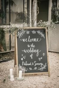 krijtbord handlettering Naokies© bruiloft styling