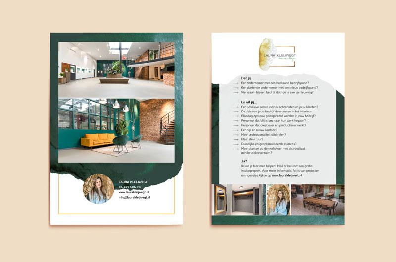 Flyer Laura Kleijwegt Interieurdesign Studio Naokies