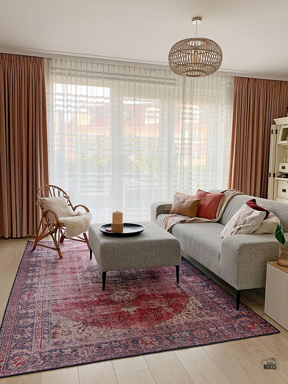 Vintage vloerkleed voor in de woonkamer Volero Studio Naokies