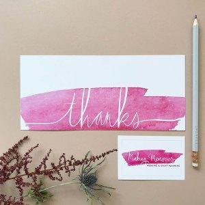 Branding voor Making Memories Wedding & Eventplanning thank you card visitekaartje Studio Naokies