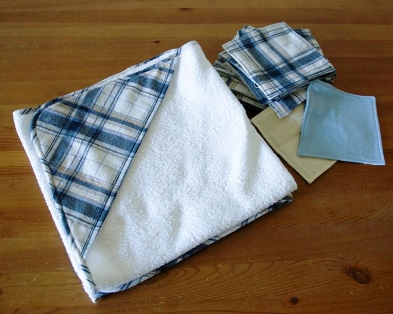 Ręczniki z kapturkiem i myjki z flaneli