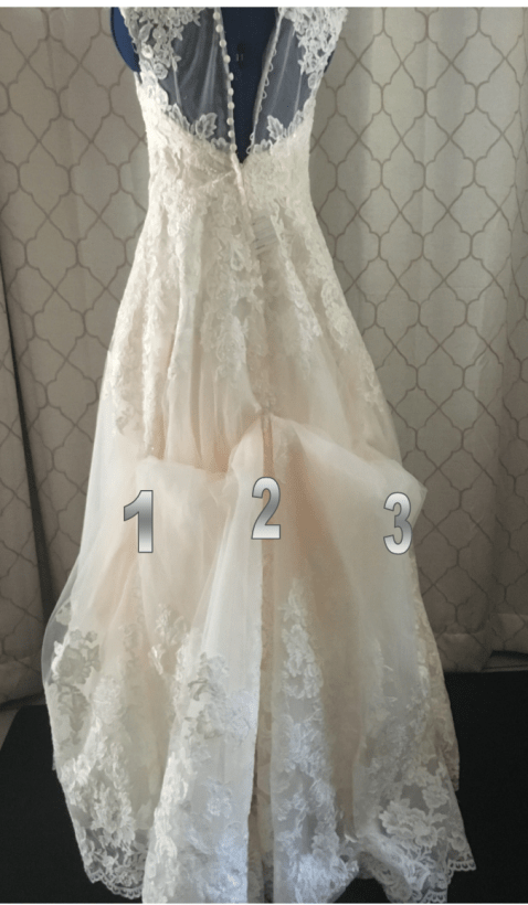 How To Bustle A Wedding Dress Diy Slipcovers And Alterations Sewing Alterations