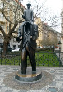 Kafka statue, Jewish Quarter, Prague